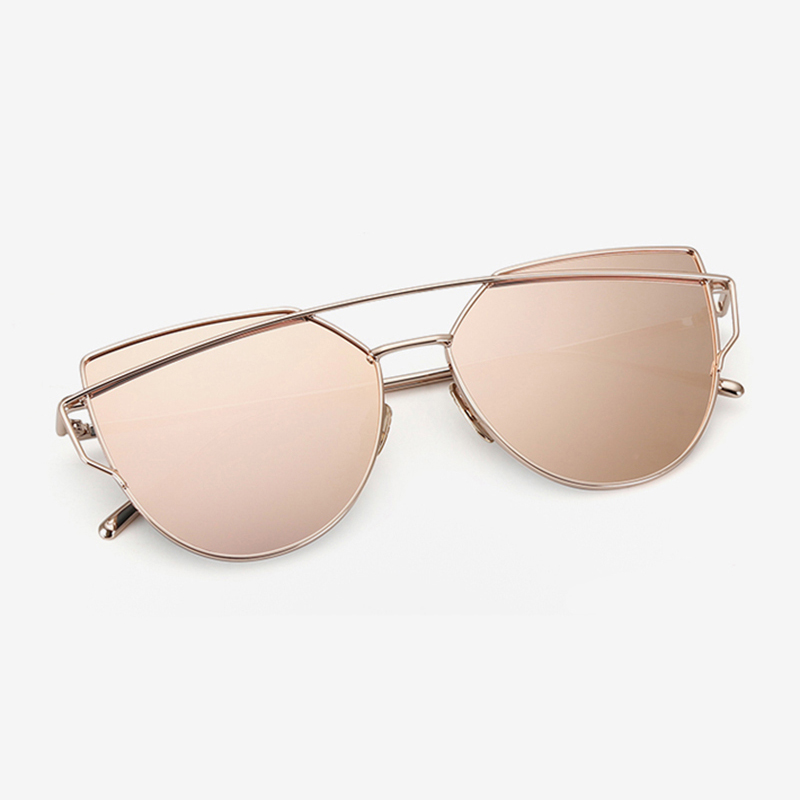designer mirrored sunglasses 0x3m  HapiGOO-New-Women-Cat-Eye-Sunglasses-Fashion-Women-Brand-Designer -Twin-Beams-Coating-Mirror-Sun-glasses